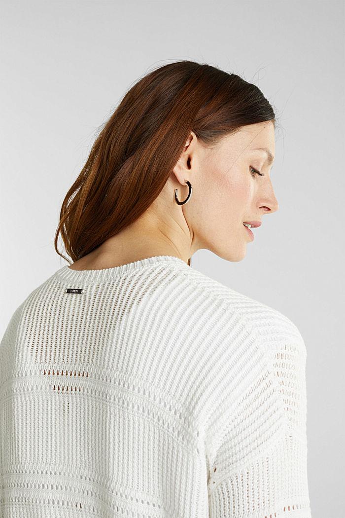 Häkel-Cardigan, 100% Organic Cotton, OFF WHITE, detail image number 4