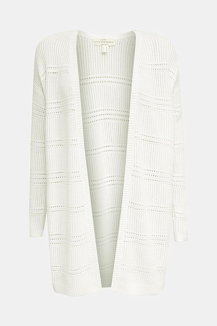 Häkel-Cardigan, 100% Organic Cotton, OFF WHITE, detail image number 6