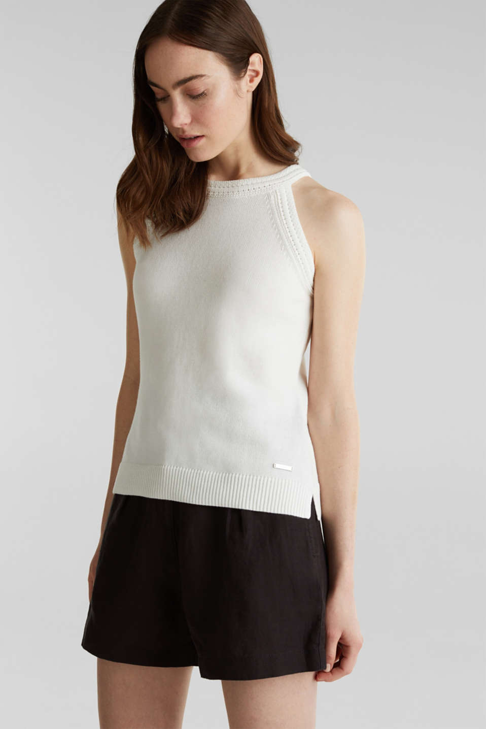 Esprit - Strick-Top aus 100% Organic Cotton