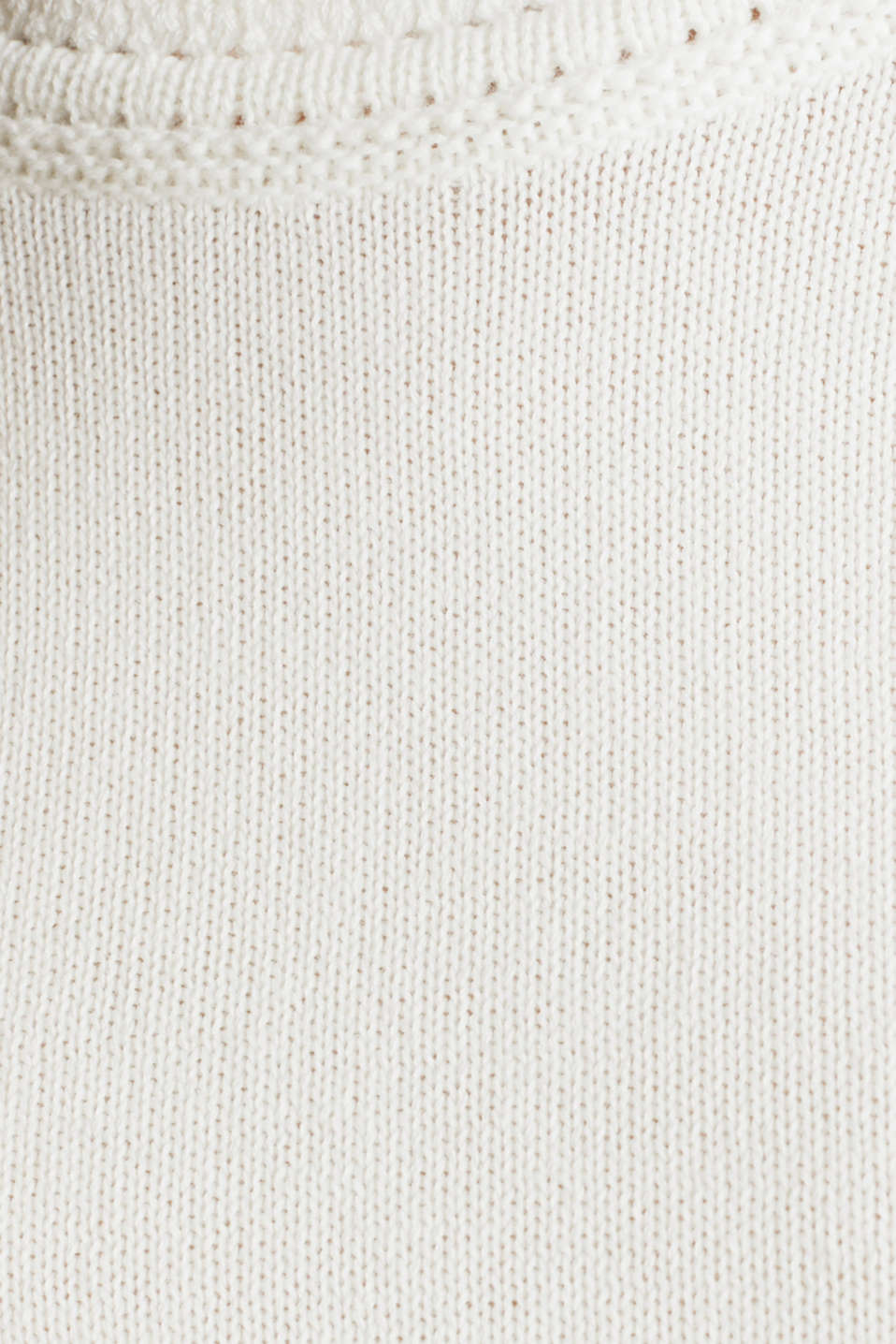 Knitted top made of 100% organic cotton, OFF WHITE, detail image number 4