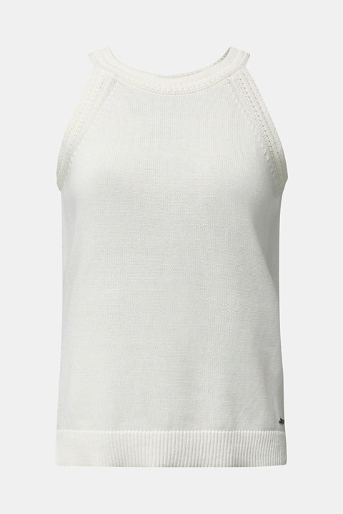 Knitted top made of 100% organic cotton