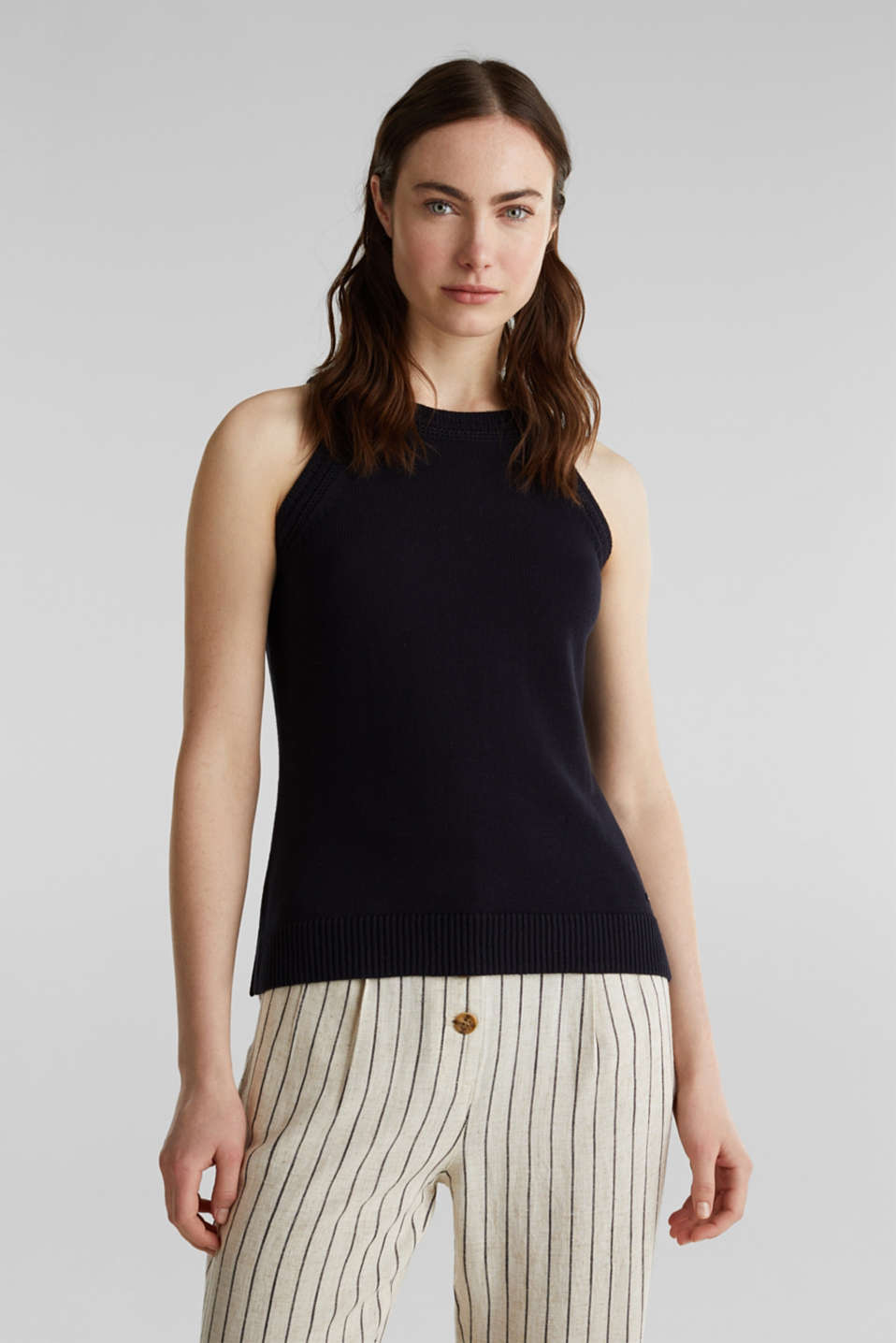 Esprit - Knitted top made of 100% organic cotton