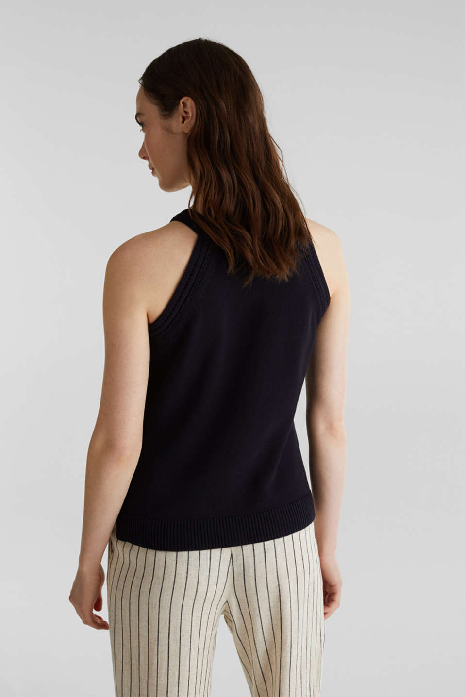 Knitted top made of 100% organic cotton, NAVY, detail image number 3