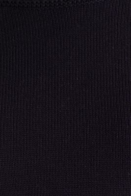 Knitted top made of 100% organic cotton, NAVY, detail