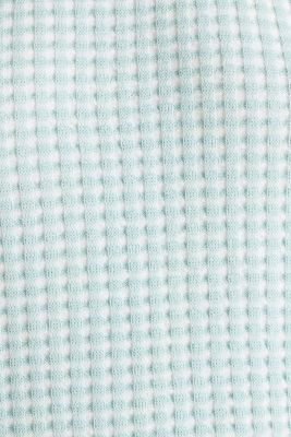 Short-sleeved jumper in a colour block style, LIGHT AQUA GREEN 4, detail