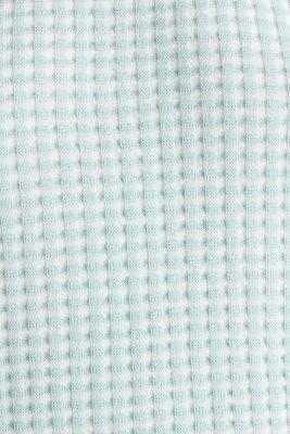 Short-sleeved jumper in a colour block style, LIGHT AQUA GREEN 4, detail