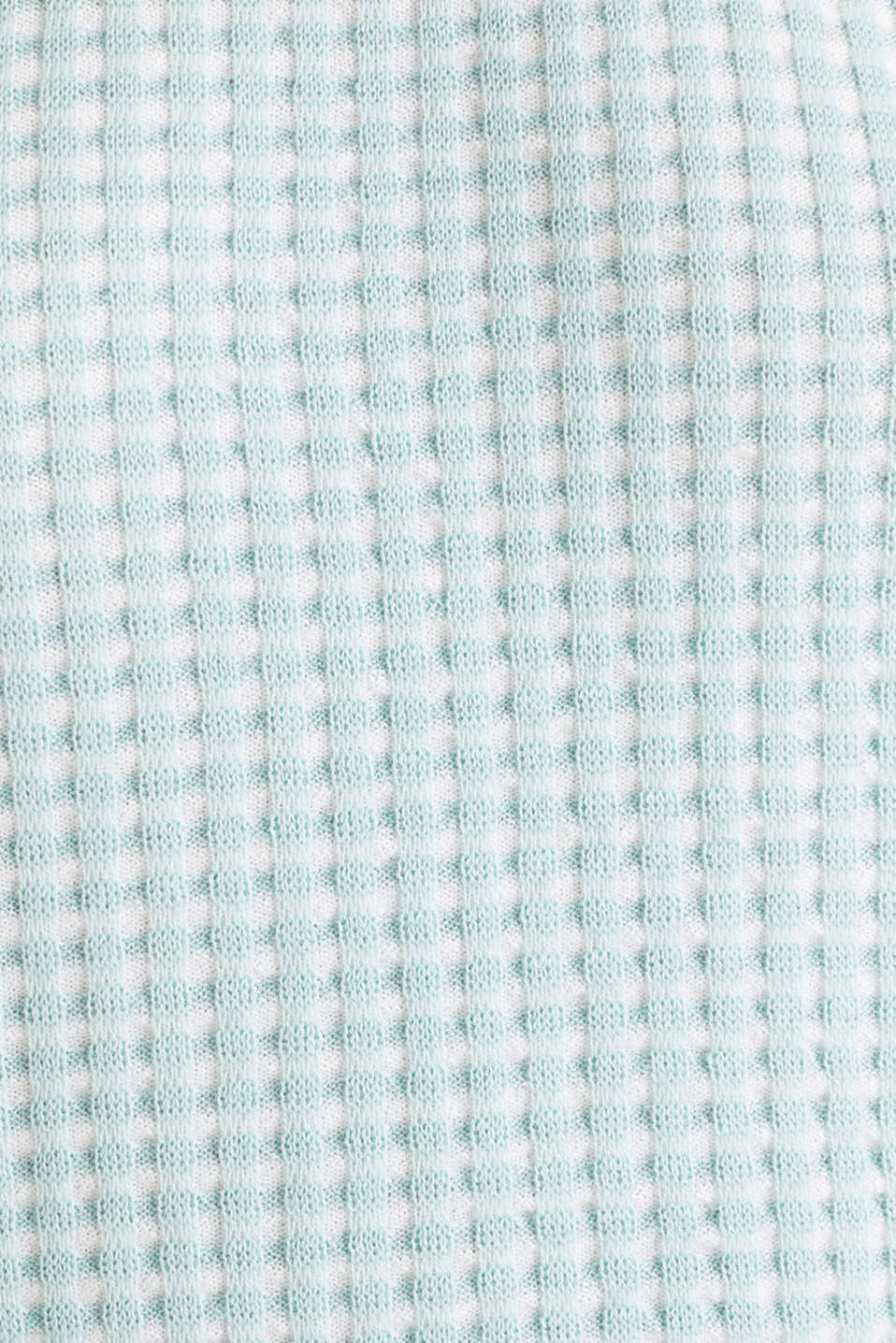 Short-sleeved jumper in a colour block style, LIGHT AQUA GREEN 4, detail image number 4