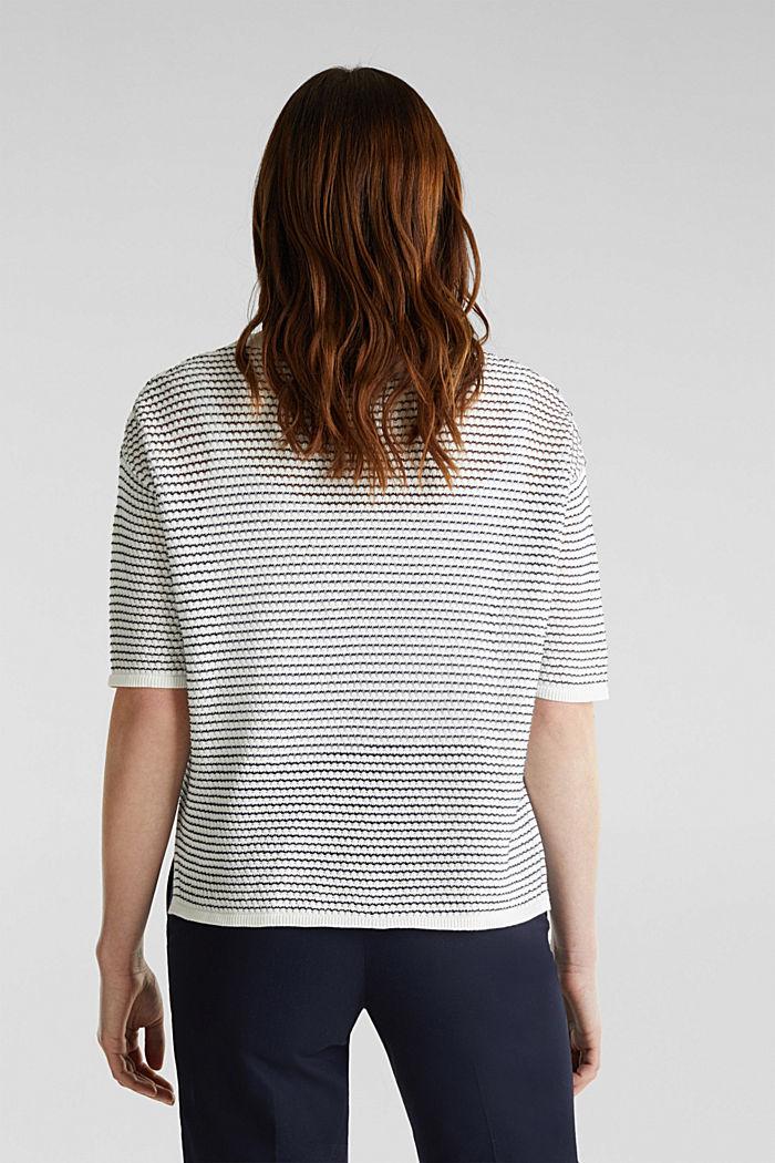 Short-sleeved jumper, organic cotton, OFF WHITE, detail image number 2