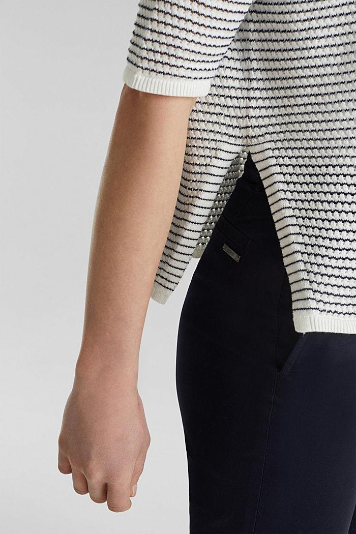 Short-sleeved jumper, organic cotton, OFF WHITE, detail image number 5