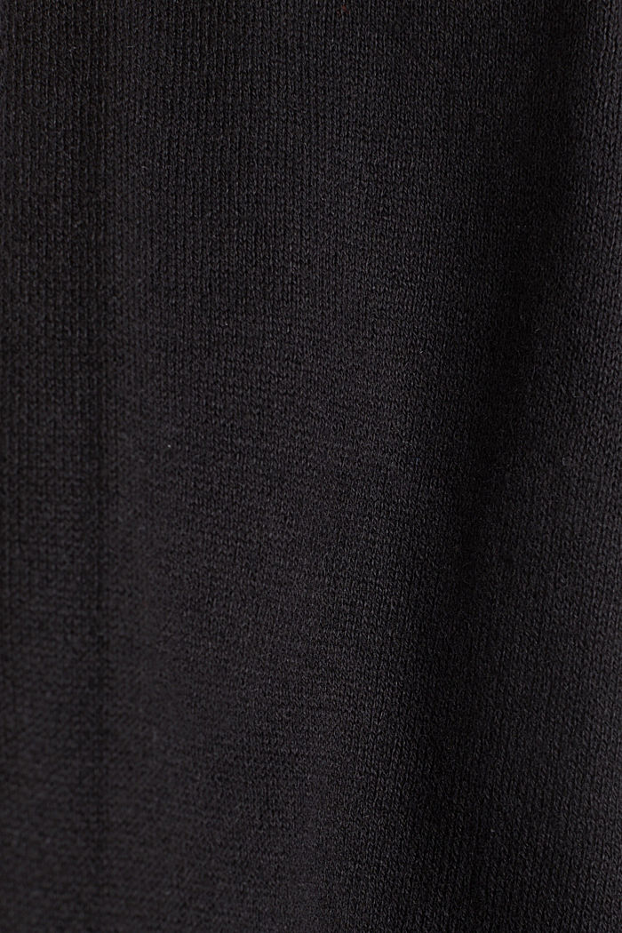 Cardigan made of 100% organic cotton, BLACK, detail image number 4