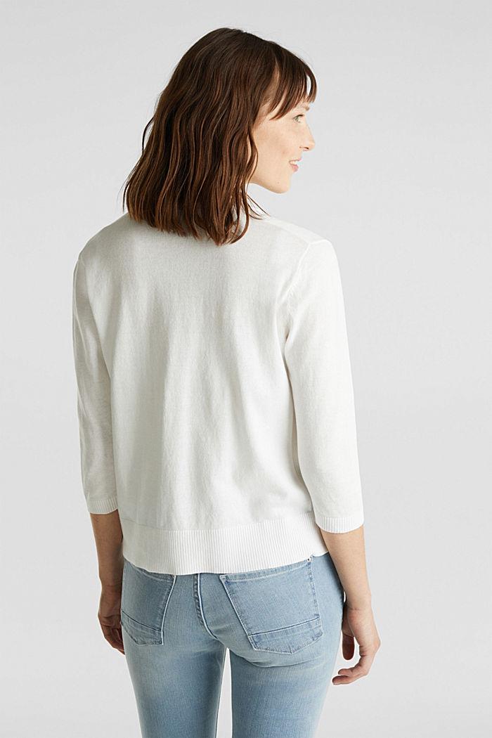 Cardigan aus 100% Organic Cotton, OFF WHITE, detail image number 3