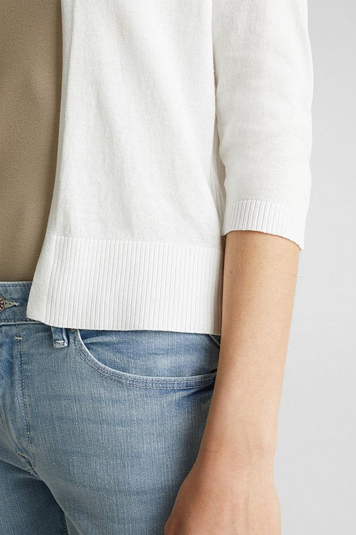 Cardigan aus 100% Organic Cotton, OFF WHITE, detail image number 2