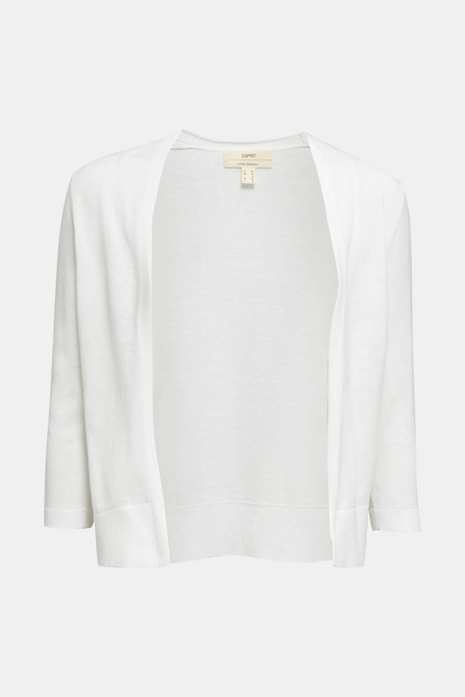Cardigan made of 100% organic cotton, OFF WHITE, detail image number 6
