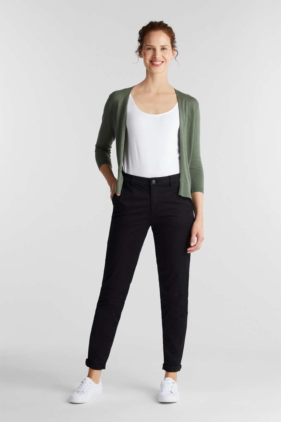 Cardigan made of 100% organic cotton, KHAKI GREEN, detail image number 1
