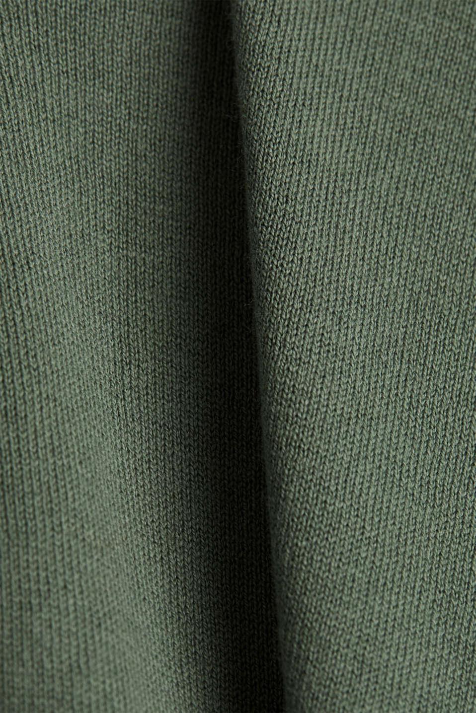 Cardigan made of 100% organic cotton, KHAKI GREEN, detail image number 4
