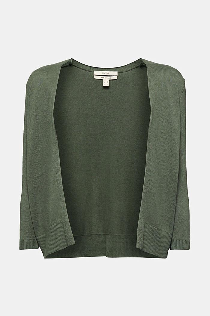 Cardigan made of 100% organic cotton, KHAKI GREEN, detail image number 5