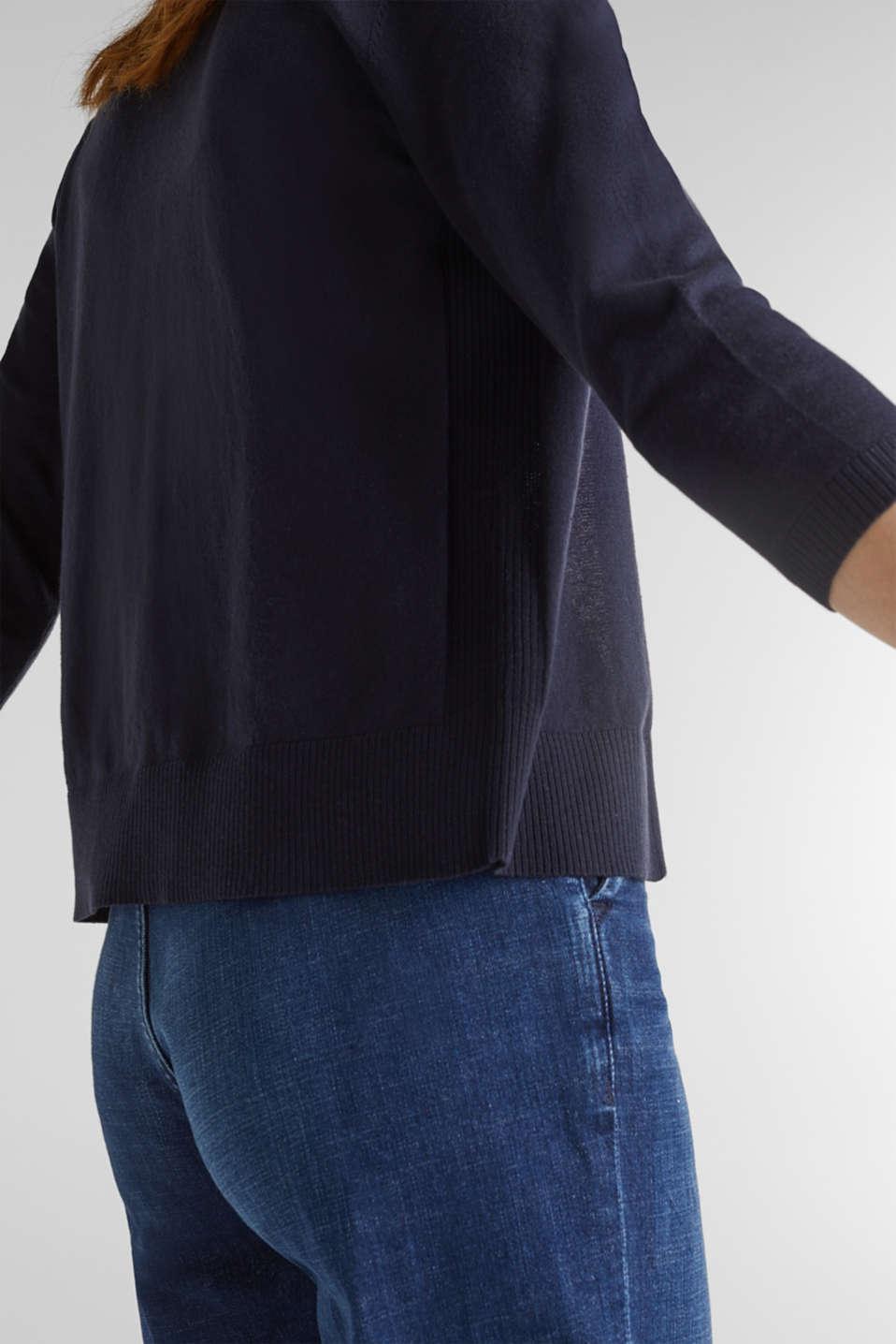 Cardigan made of 100% organic cotton, NAVY, detail image number 2