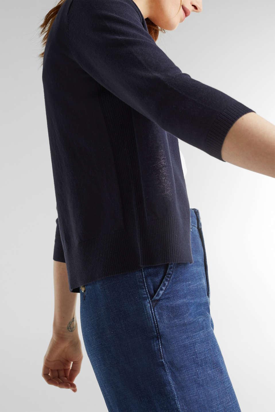 Cardigan made of 100% organic cotton, NAVY, detail image number 5