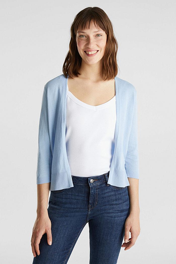 Cardigan made of 100% organic cotton, LIGHT BLUE, detail image number 0