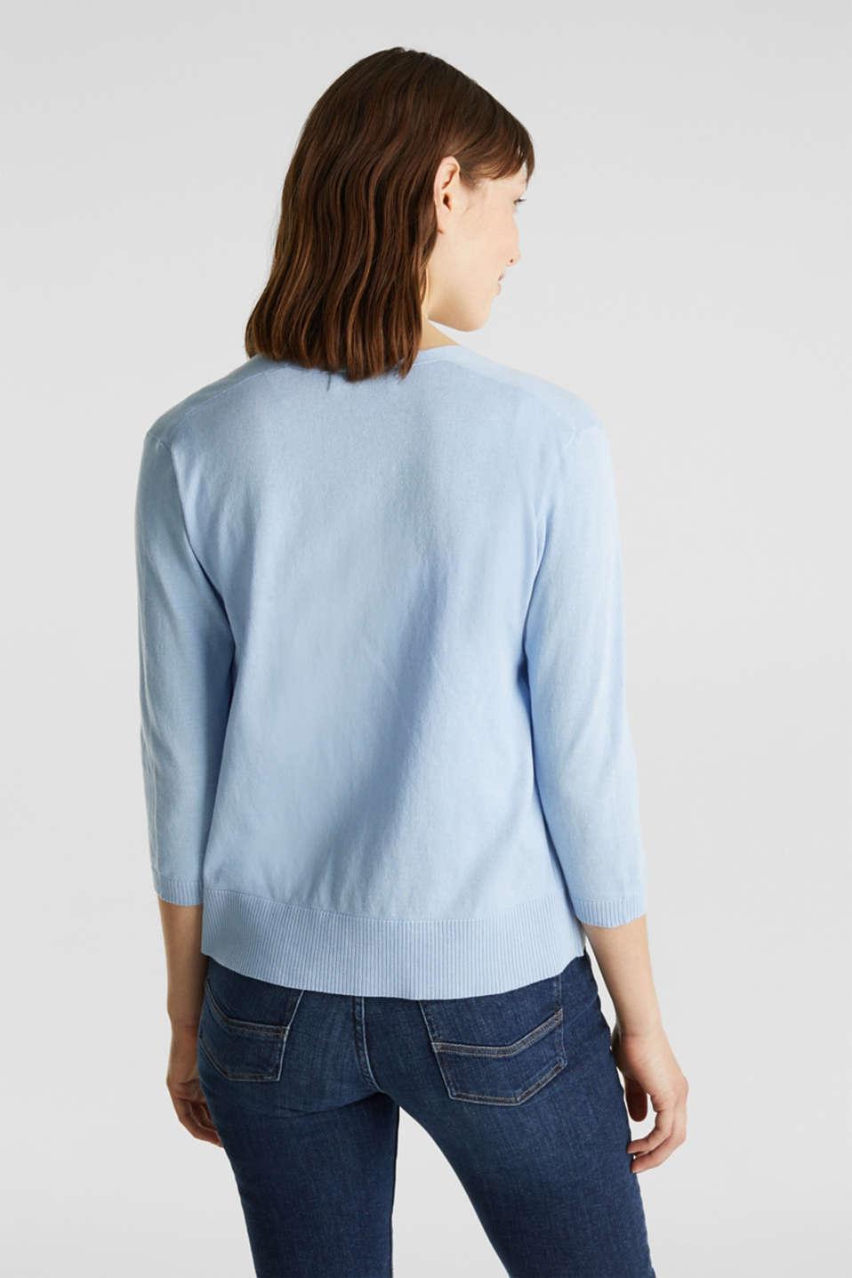 Cardigan made of 100% organic cotton, LIGHT BLUE, detail image number 3