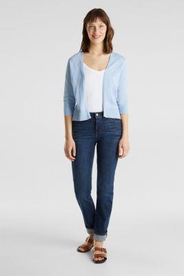 Cardigan made of 100% organic cotton, LIGHT BLUE, detail