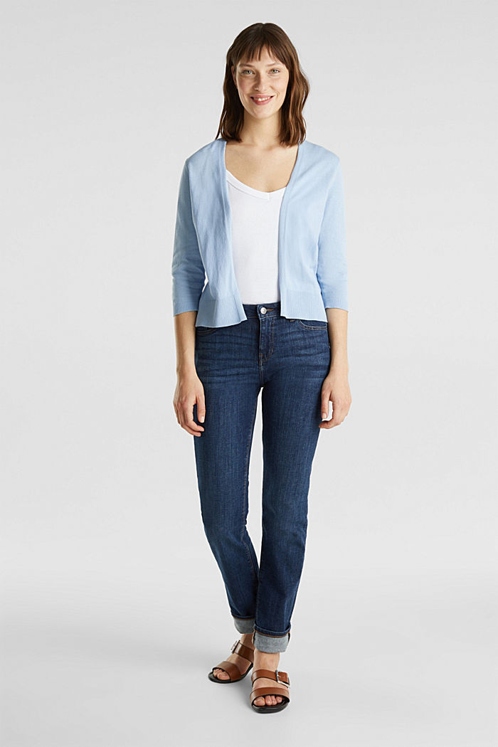 Cardigan made of 100% organic cotton, LIGHT BLUE, detail image number 1