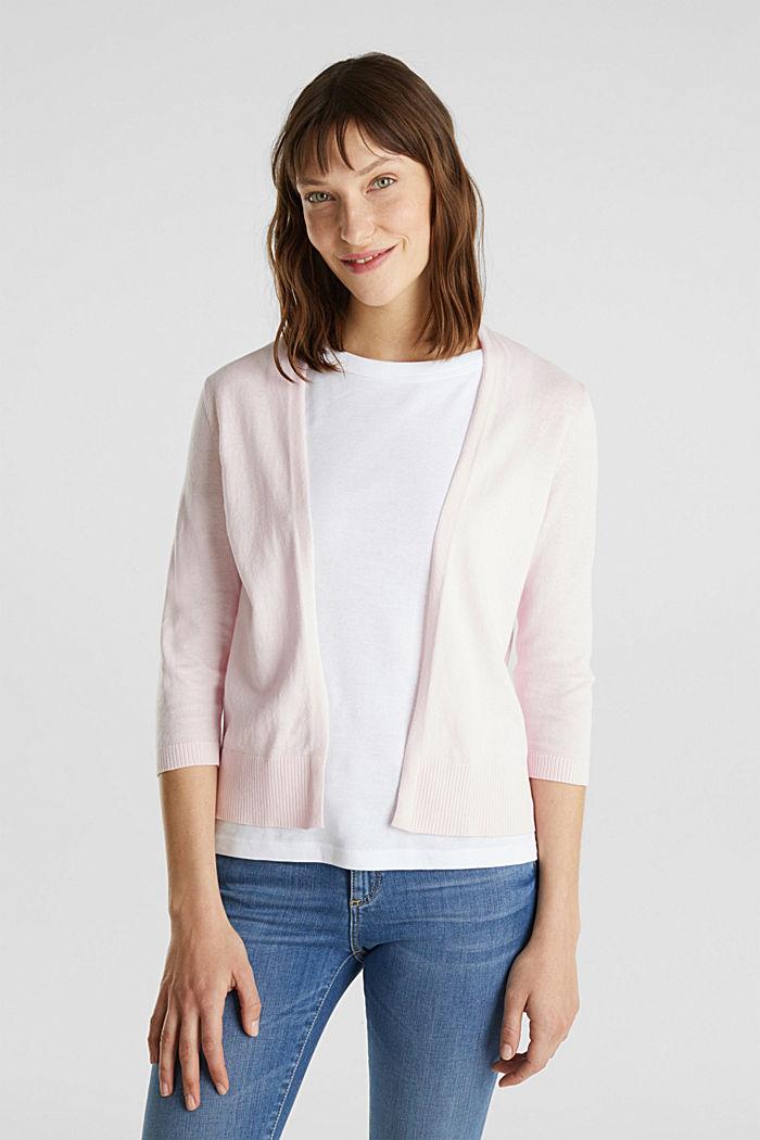 Cardigan aus 100% Organic Cotton, LIGHT PINK, detail image number 0