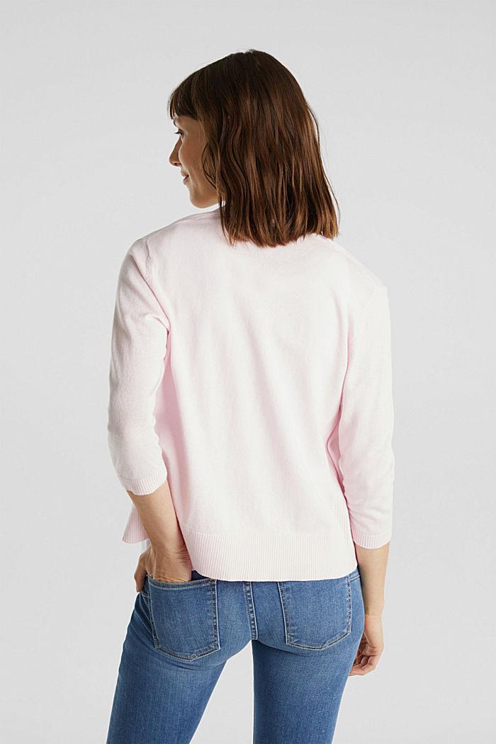 Cardigan aus 100% Organic Cotton, LIGHT PINK, detail image number 3