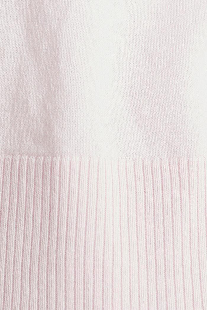 Cardigan aus 100% Organic Cotton, LIGHT PINK, detail image number 4