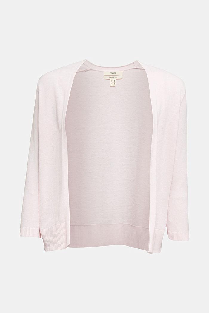 Cardigan aus 100% Organic Cotton, LIGHT PINK, detail image number 5