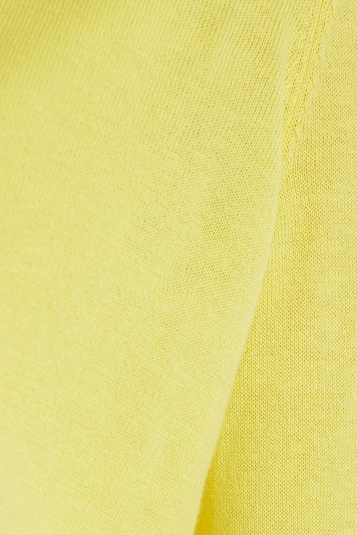 Cardigan made of 100% organic cotton, BRIGHT YELLOW, detail image number 4