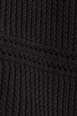Curvy cardigan, organic cotton, BLACK, detail