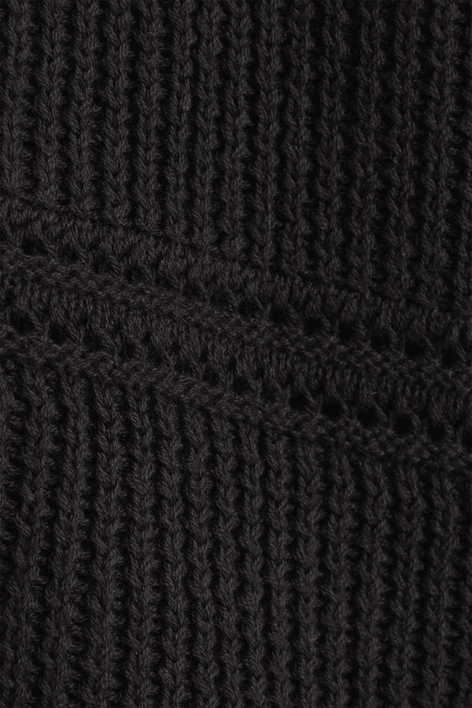 Curvy cardigan, organic cotton, BLACK, detail image number 4