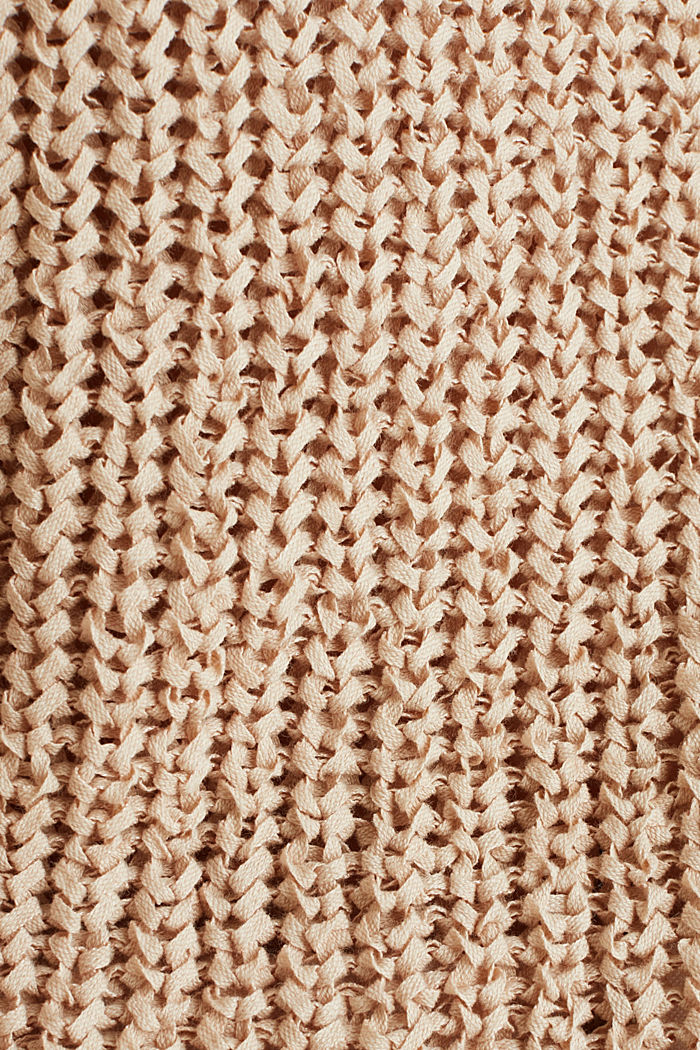 Ribbon yarn jumper, LIGHT BEIGE, detail image number 4