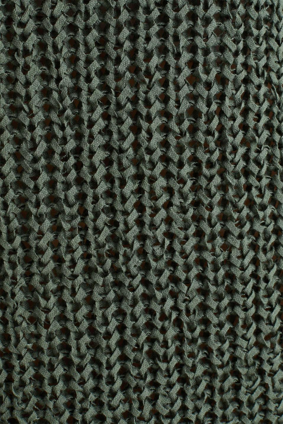 Ribbon yarn jumper, KHAKI GREEN, detail image number 3