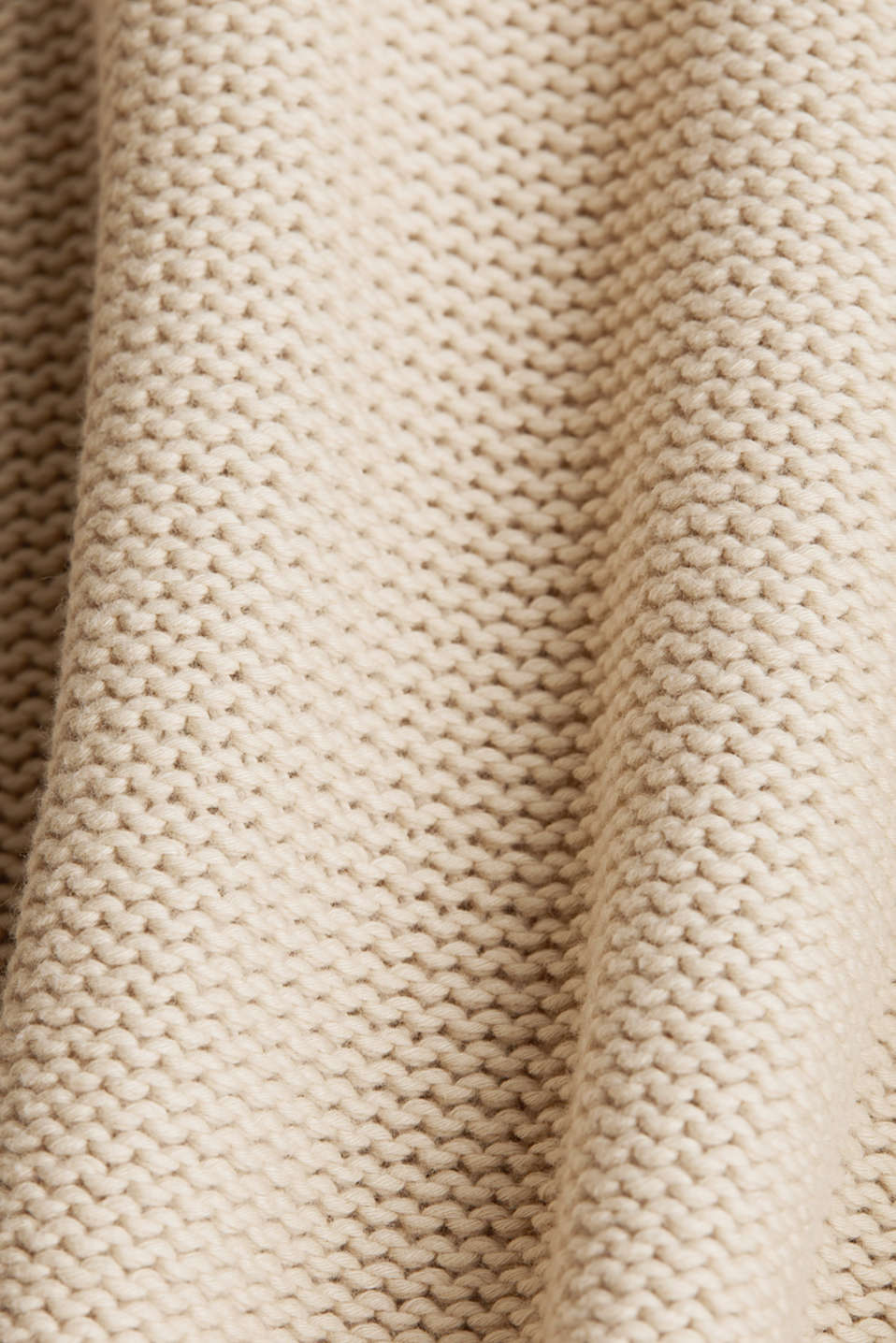 Jumper with a V-neck, 100% cotton, LIGHT BEIGE, detail image number 4