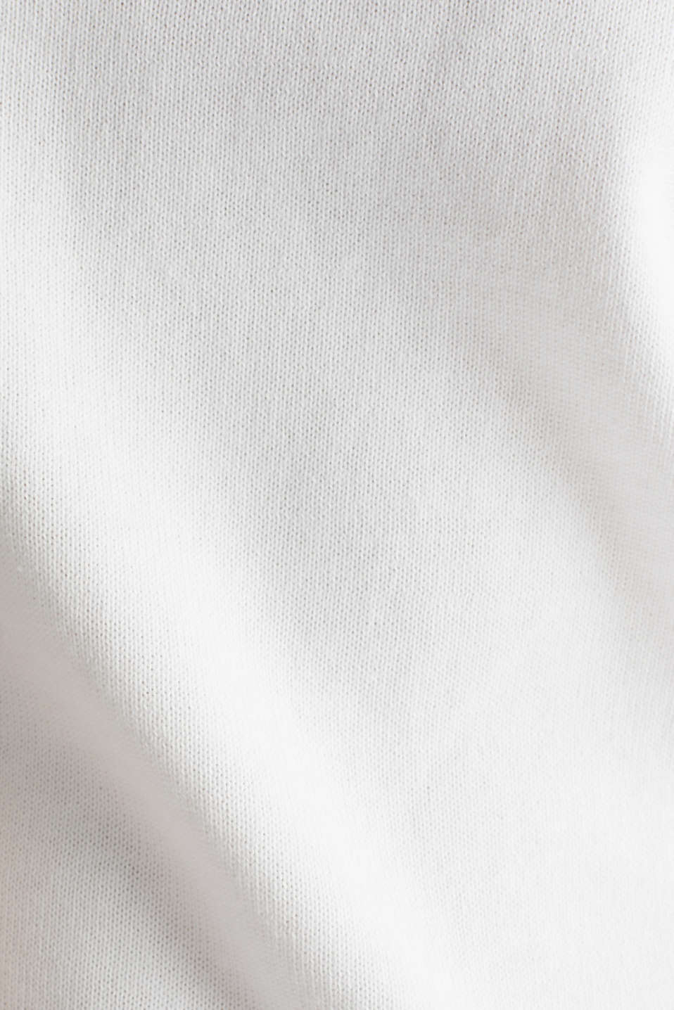 Jumper with broderie anglaise, 100% cotton, WHITE, detail image number 3