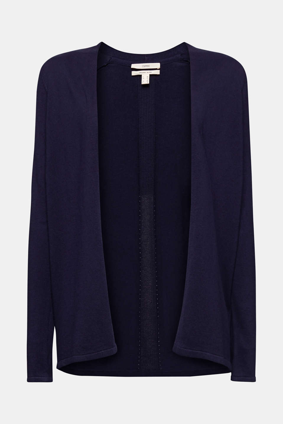 Open cardigan with an openwork pattern, NAVY, detail image number 5