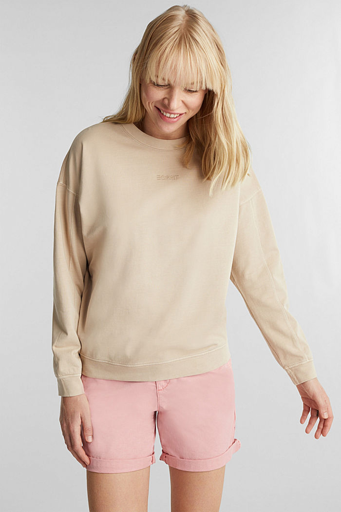 EarthColors® cotton sweatshirt, SKIN BEIGE, detail image number 0