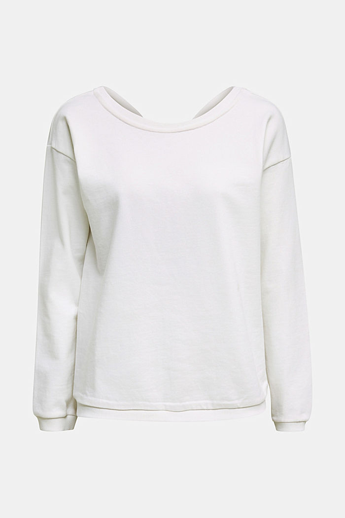 Sweatshirt mit Rücken-Ausschnitt