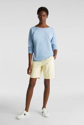 Sweatshirt with a back neckline, LIGHT BLUE, detail