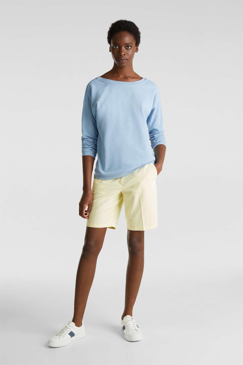 Sweatshirt with a back neckline, LIGHT BLUE, detail image number 1