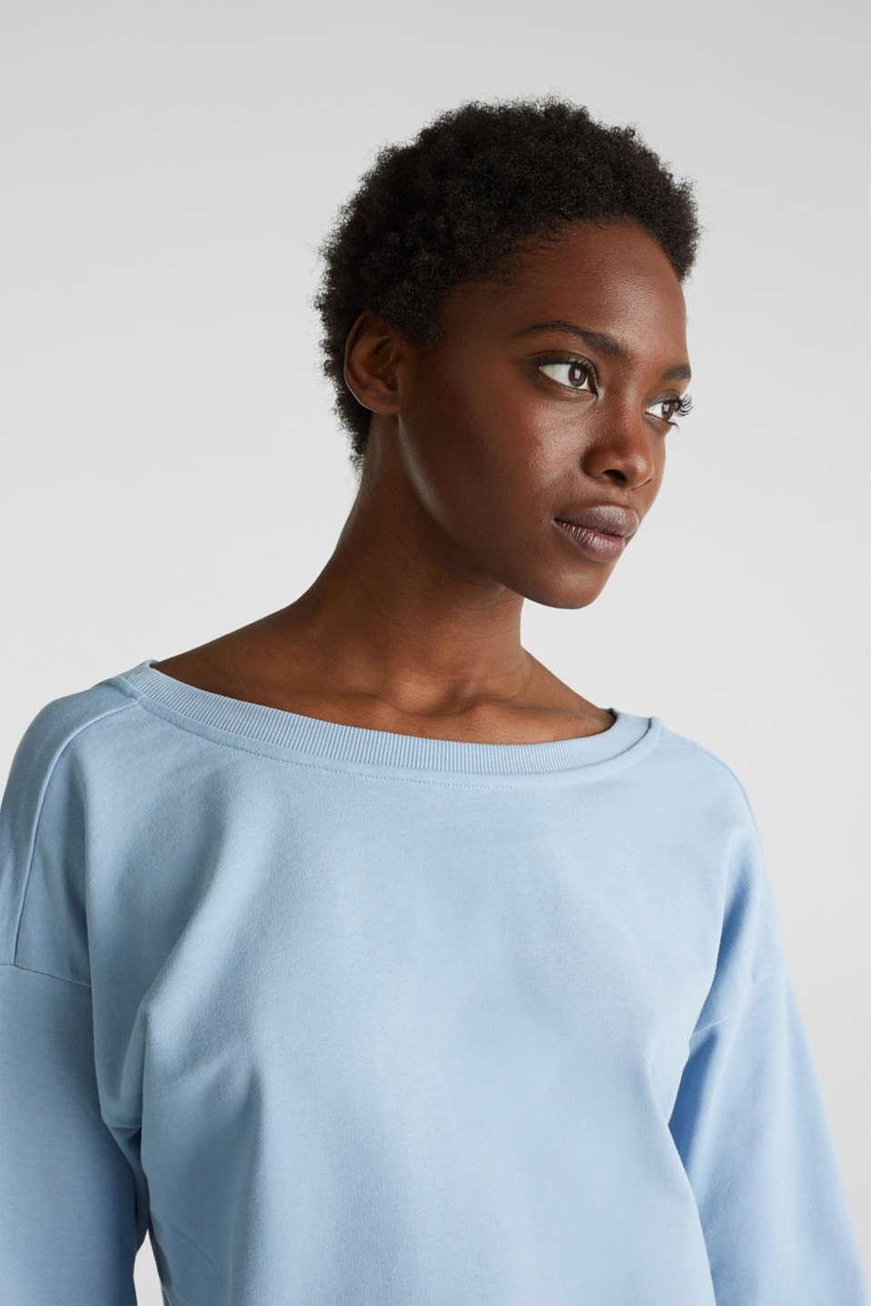 Sweatshirt with a back neckline, LIGHT BLUE, detail image number 6