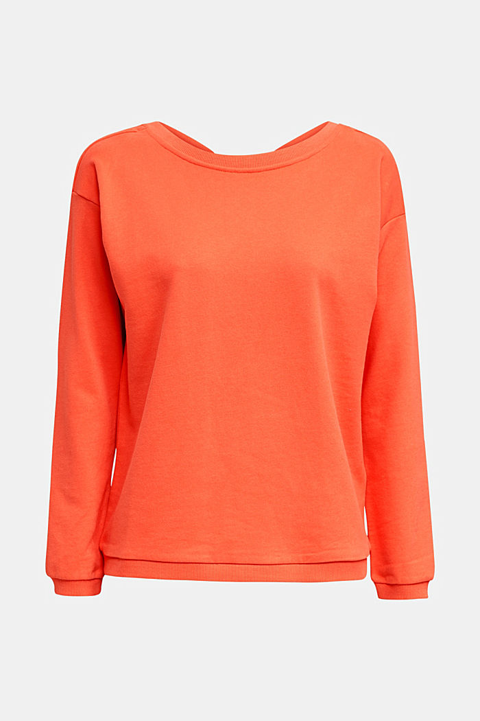 Sweatshirt with a back neckline, CORAL, detail image number 5