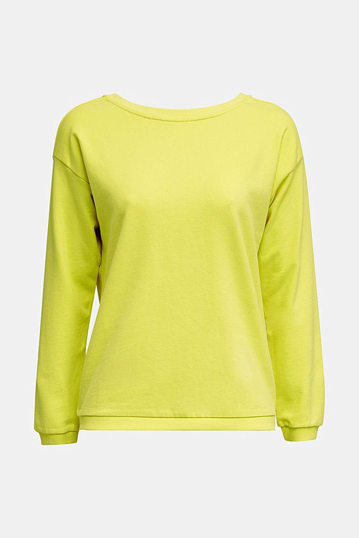 Sweatshirt mit Rücken-Ausschnitt, BRIGHT YELLOW, detail image number 5