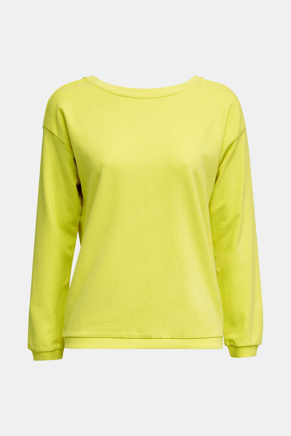 Sweatshirt with a back neckline, BRIGHT YELLOW, detail image number 5