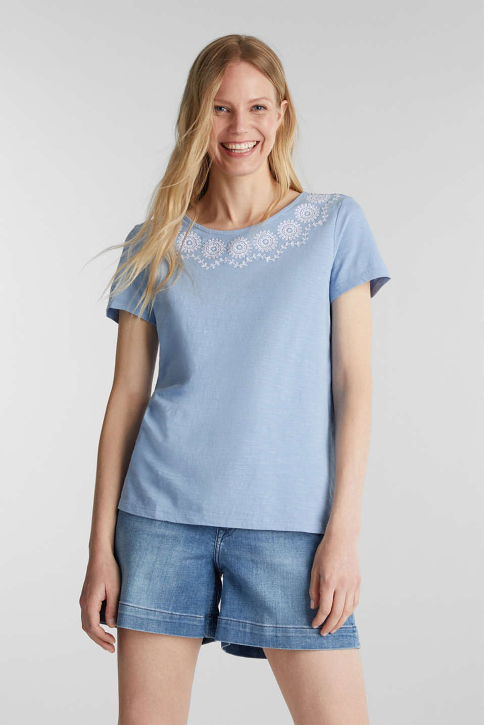 Esprit - Cotton top with embroidery