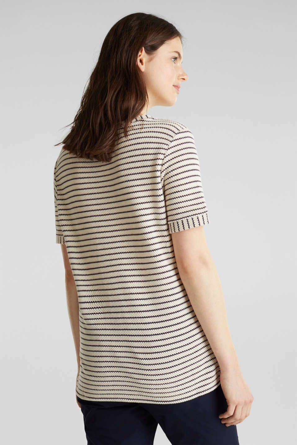 Top with textured stripes, SAND, detail image number 3
