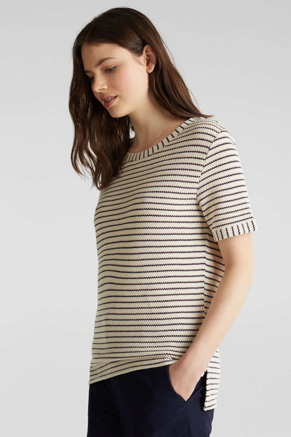 Top with textured stripes, SAND, detail image number 5