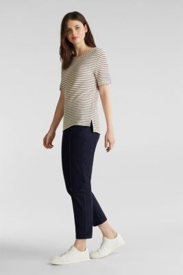 Top with textured stripes, SAND, detail